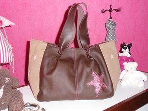 sac cabas étoile pailletée