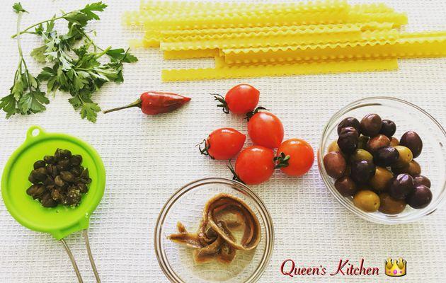 reginette con sugo alle olive