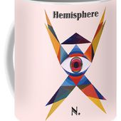 Hemisphere N. Text Coffee Mug for Sale by Michael Bellon