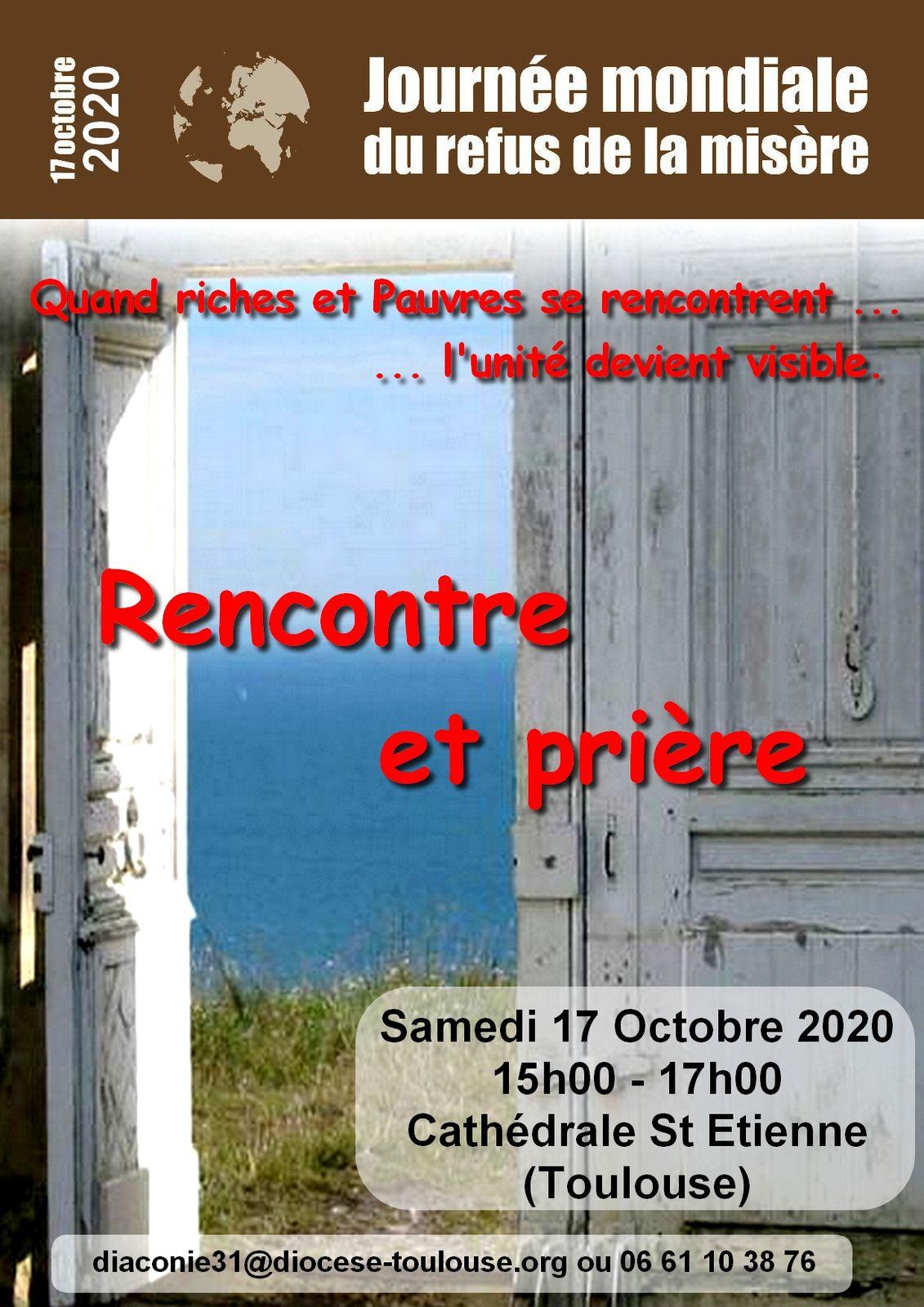 Journée Mondiale du refus de la misère samedi 17 octobre à Toulouse