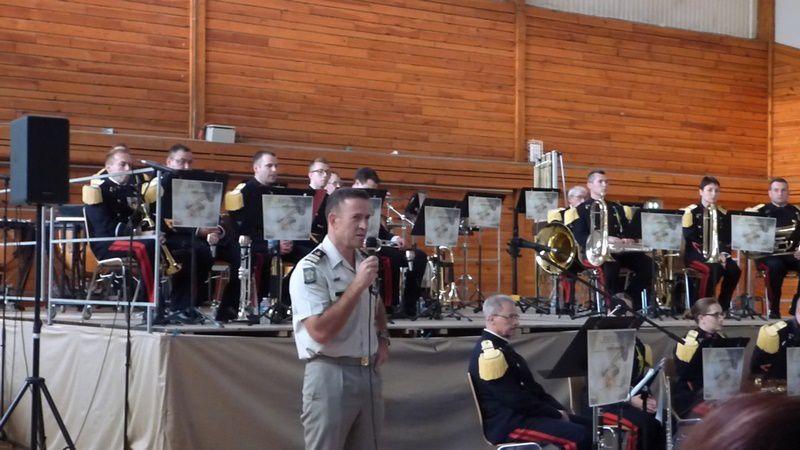 1ère partie du concert de la Fanfare du RMT au profit des blessés de l'Armée de terre