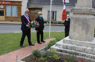 Commémoration du 8 mai 1945 à Jupilles en toute intimité