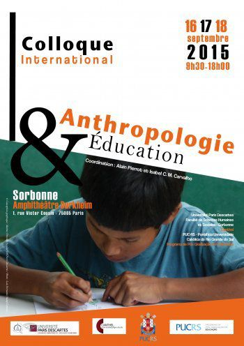16-18 sept 2015 Colloque anthropologie et éducation - Paris Sorbonne