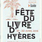 Hyères - Fête du Livre 2018 - Toujours aussi passionnante! - Les écrits d'un poète français