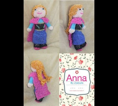 Tuto loomigurumi Anna de la Reine des Neiges