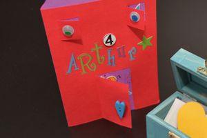 carte d'anniversaire Arthur