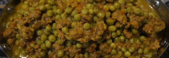 Curry d'agneau aux petits pois-Kheema Matar