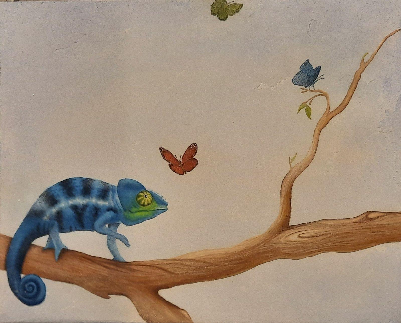 Créartaly enduit fresque caméléon