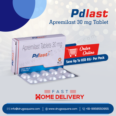 Pdlast Tablet Online - Buy Generic Apremilast 30 mg at Lowest Price From India