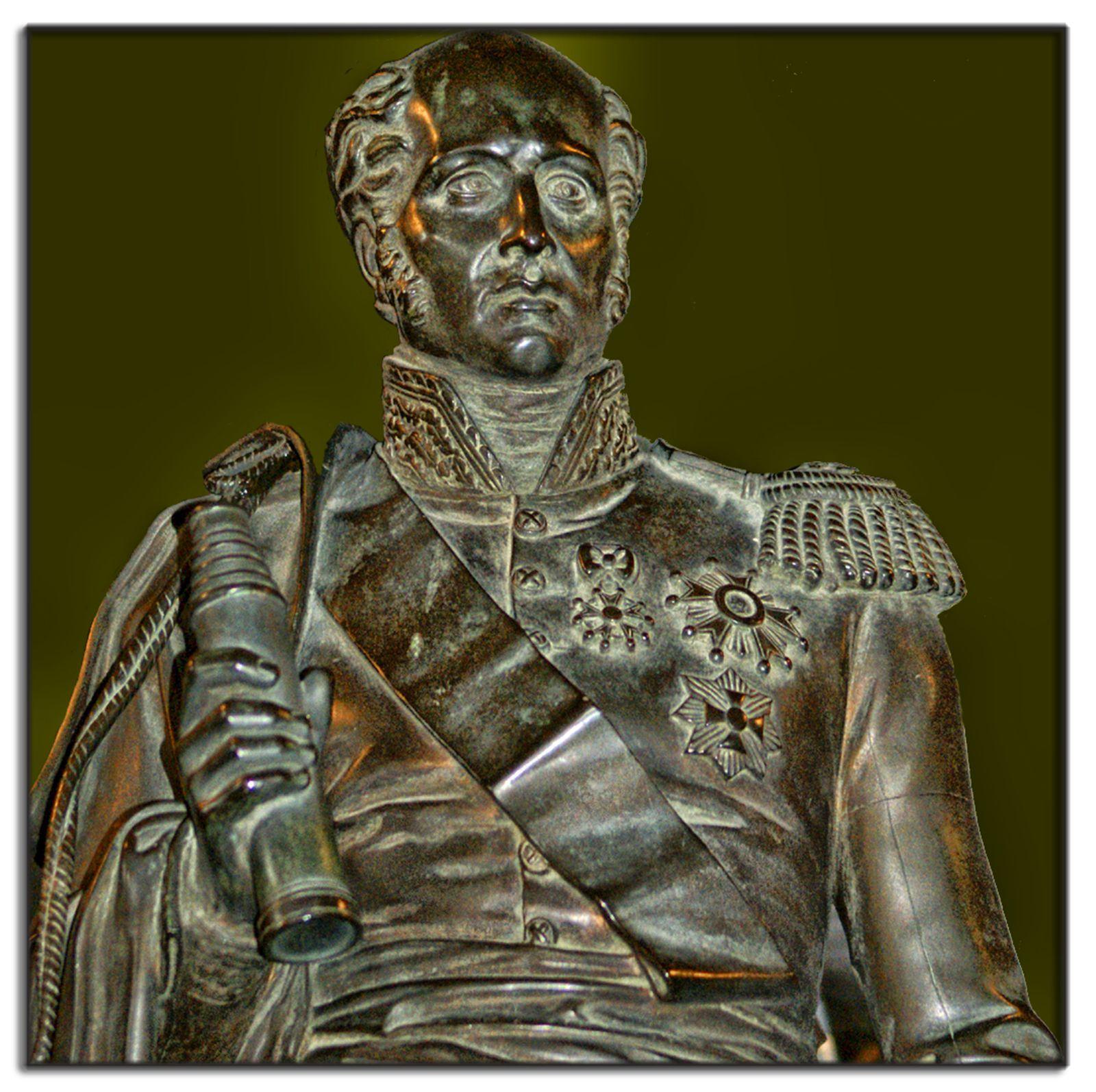 Buste du Maréchal d'Empire Davout - Phare d'Eckmühl - Finistère