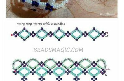 #seed #bead #anklets #free #pattern #seedbeadankletsfreepattern Free pattern bracelet santori ~ Seed Bead Tutorials