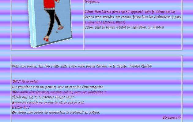 CM2 - La page de Clémence D.
