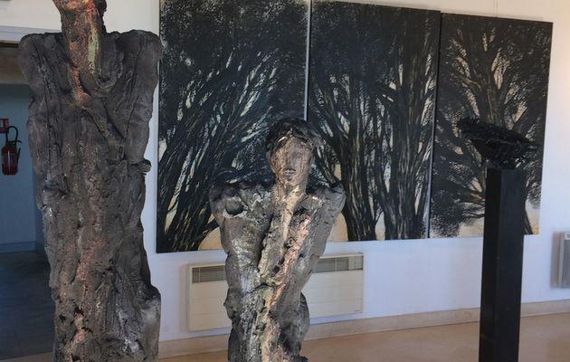 Exposition de France Mitrofanoff et Michel Wolhfahrt au château de Lussan
