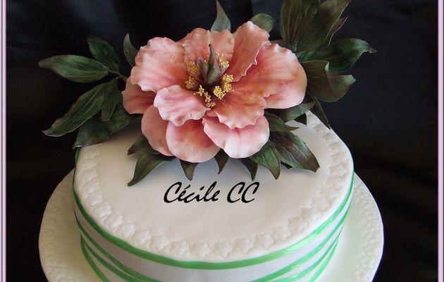 Mon dernier gâteau fleuri...