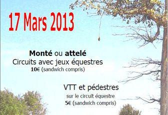Rando à Bournezeau (85) dimanche 17 mars