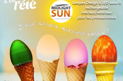 Lampes Design à LED sans fil rechargeable intérieur/extérieur pour les professionnels - MIDLIGHTSUN