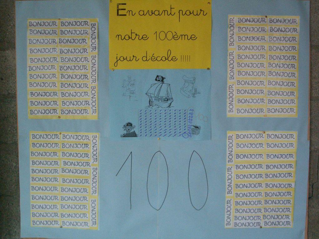 En avant pour notre 100 ème jour d'école !!!!