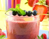 MOUSSE DE FROMAGE BLANC AUX FRUITS