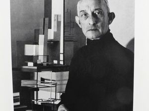 The two founders of the Space group : the painter Felix del Marle and the architect André Bloc