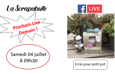 Live Facebook demain matin !
