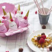 Diy girly : les oeufs de Pâques licorne - Black Confetti