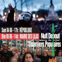 Marche de convergences des luttes, quartiers populaires, Nuit debout