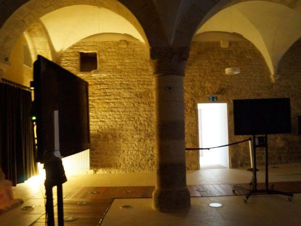 Espace voûté en sous-sol et installation visio-sonore