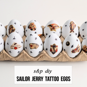 studs and pearls: diy: Sailor Jerry Tattoo Eggs