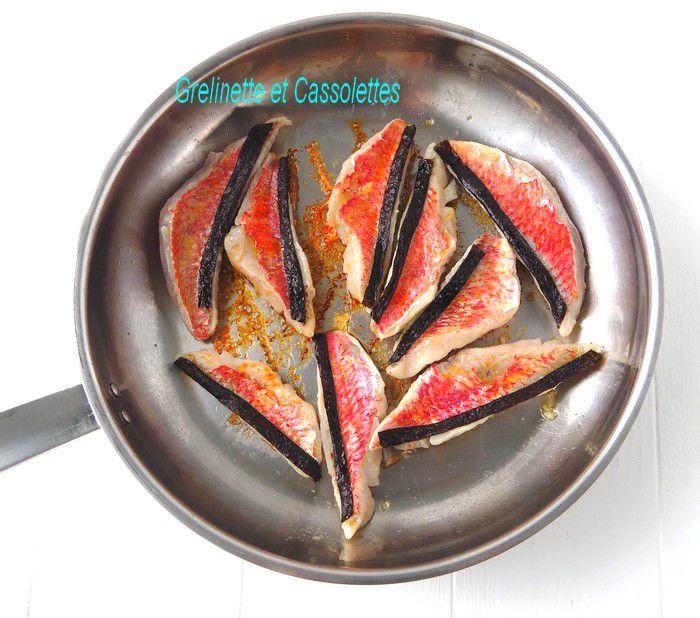 Wok de Vermicelles de Riz, Filets de Rouget à la Nori
