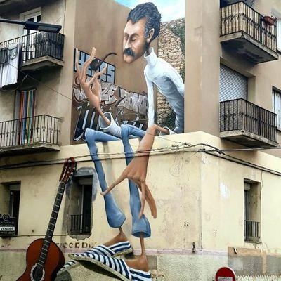 Street Art Georges Brassens by Maye à Sète KLive 2019