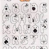 Schema punto croce Alfabeto Halloween