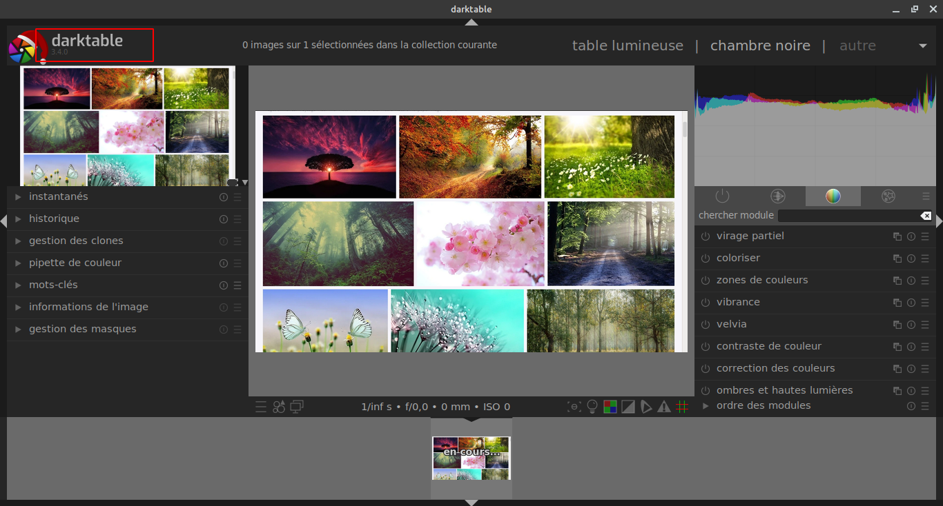 Darktable : Passez de la version 3.0 à la version 3.4