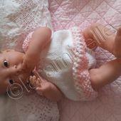 tuto gratuit bébé Bérenguer: robe ajourée à empiècement rond et faux raglan - laramicelle