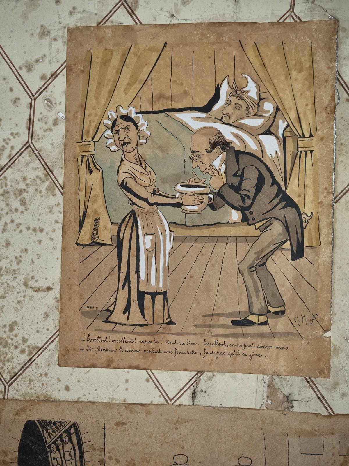 La caricature s'expose au châteaux aux assiettes