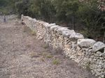 Restauration d'un mur de clôture