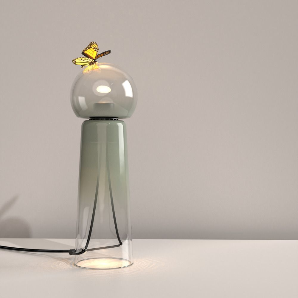 STUDIO D'ARMES, IN COLLABORATION WITH VERRE D'ONGE, UNVEILS ITS NEW DUO OF TABLE AND FLOOR LAMPS: GIGI AND GIGI GRAND.