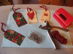 Etiquettes festives rapides et faciles à faire