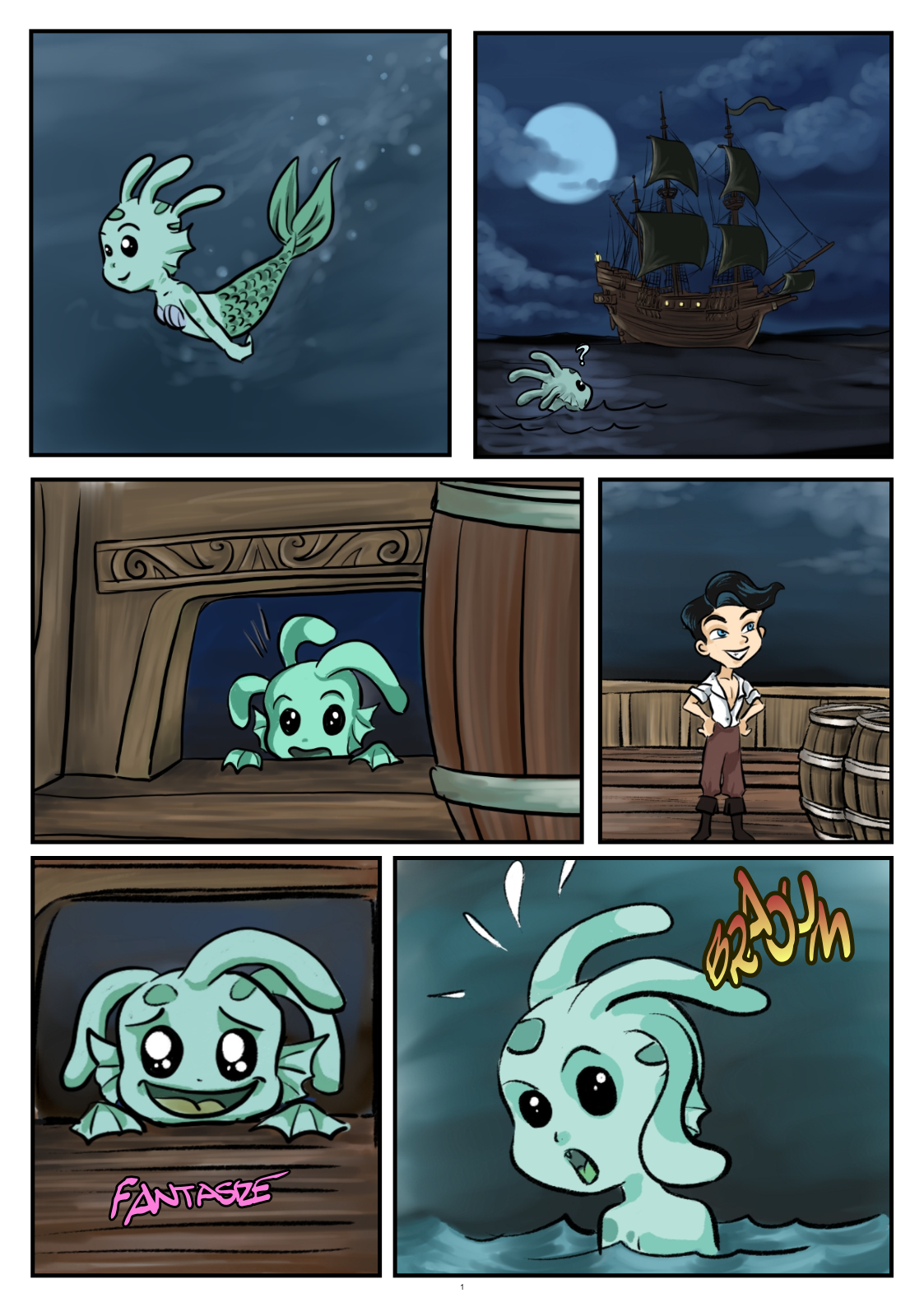 MerMay Challenge - #MerMay 06 (BD in French and English versions)