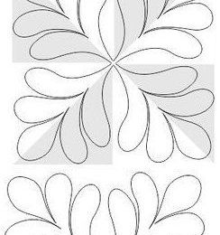 #free #motion #quilting #patterns #templates Quilting design for pinwheel or 4 patch