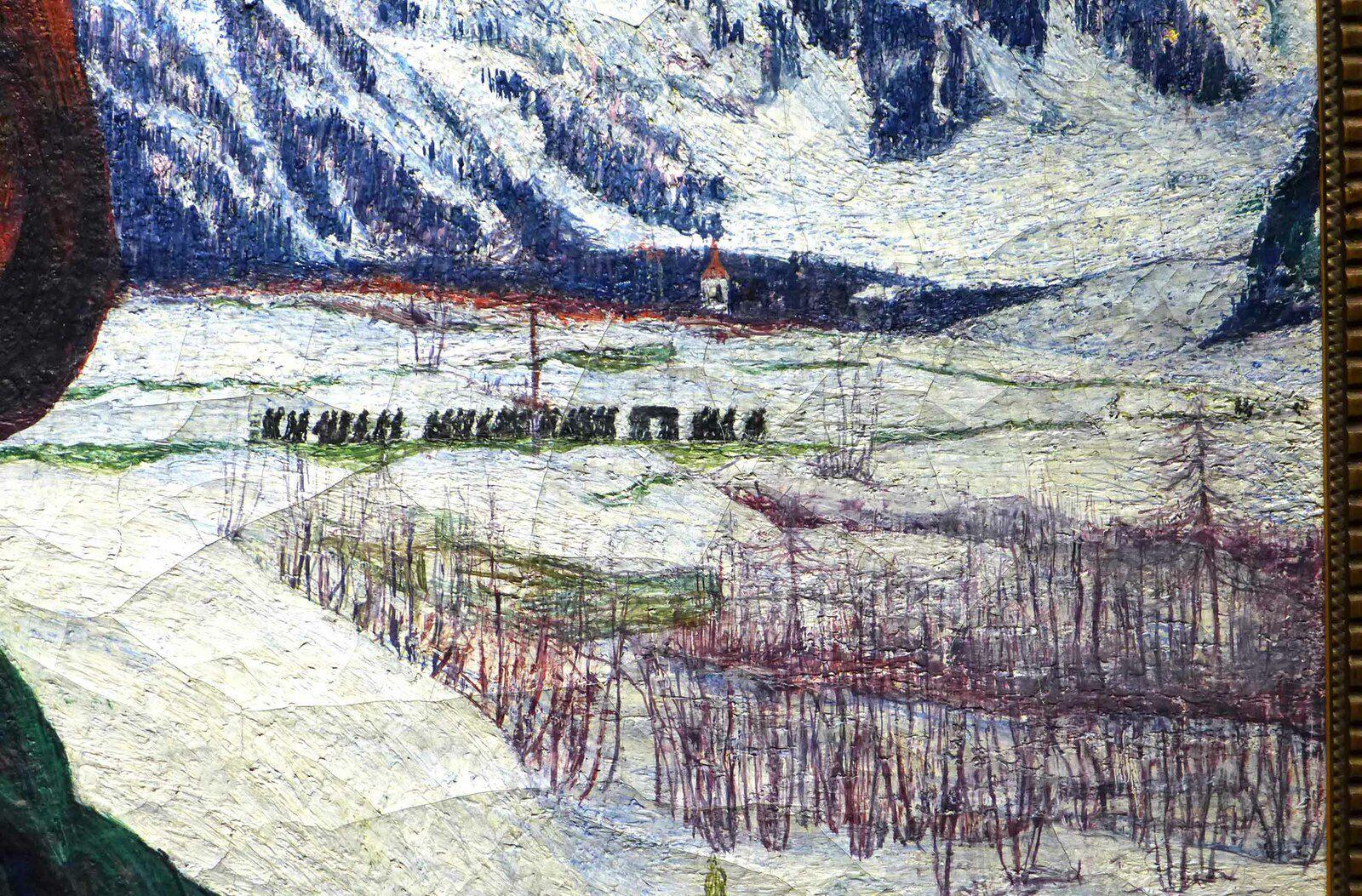 Giovanni GIACOMETTI, Autoportait devant un paysage hivernal (1899), huile sur toile. Genève, Musée d'Art et d'Histoire.