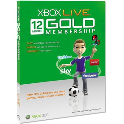 Xbox 360 Live 12 month GOLD Subscription WORLDWIDE