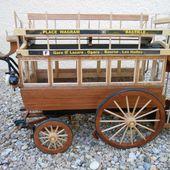 Omnibus à chevaux WAGRAM-BASTILLE à impériale N° 2177 (article 3/3) - Maquettes hippomobiles