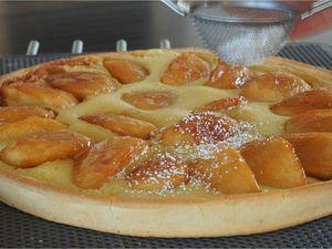 Tarte aux pommes caramélisées et flan