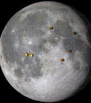 Les vestiges des missions Apollo