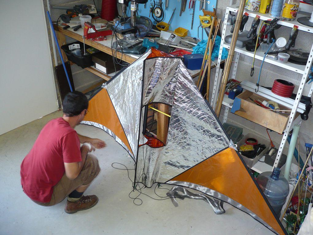 création d'un cerf-volant pour la photo aérienne par vents très forts. Partenariat WOKIPI / OK Mistral