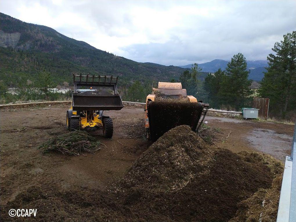 Opération broyage de végétaux sur le territoire de la Communauté de Communes Alpes Provence Verdon.