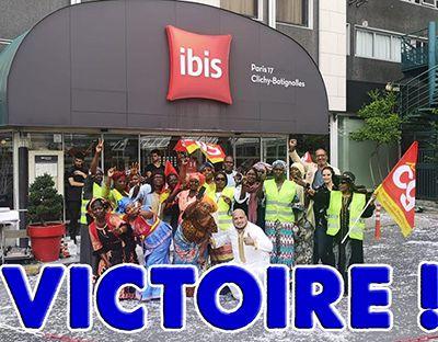 Victoire à l'hôtel Ibis Batignolles !