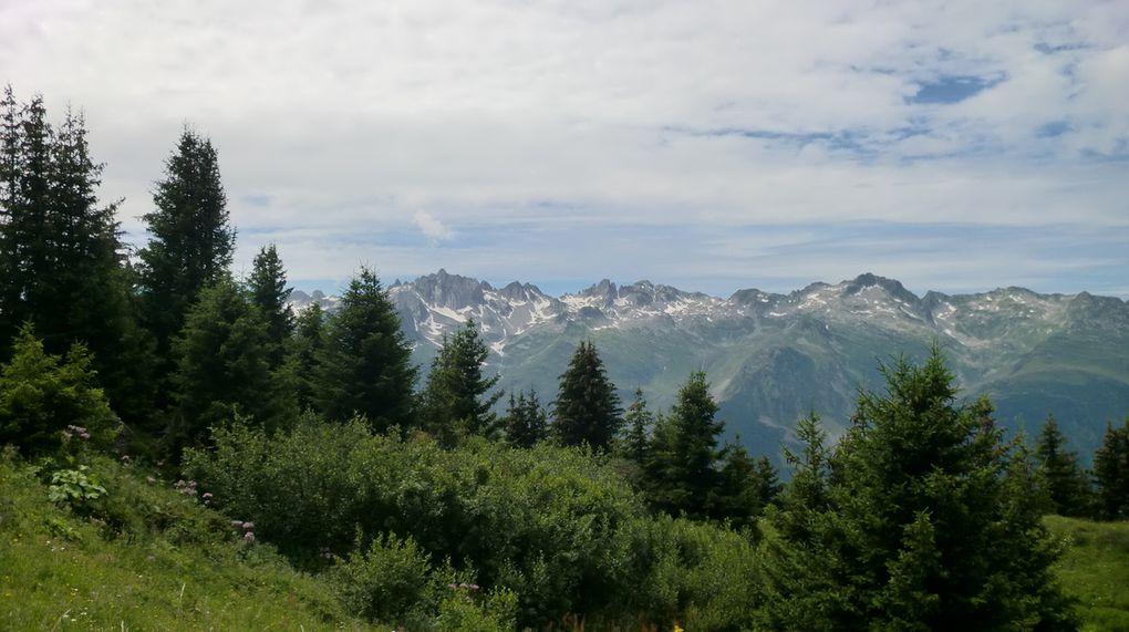 Toujours en cheminant dans des paysages magnifiques, nous atteignons le Lieu-dit : Longecha à 2030 m.