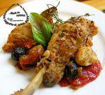 Sauté de poulet aux tomates et olives
