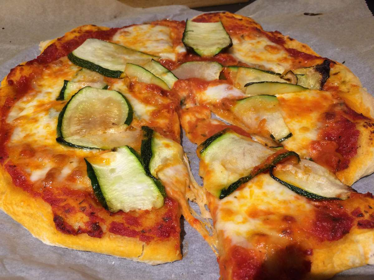 Pizza à la courgette
